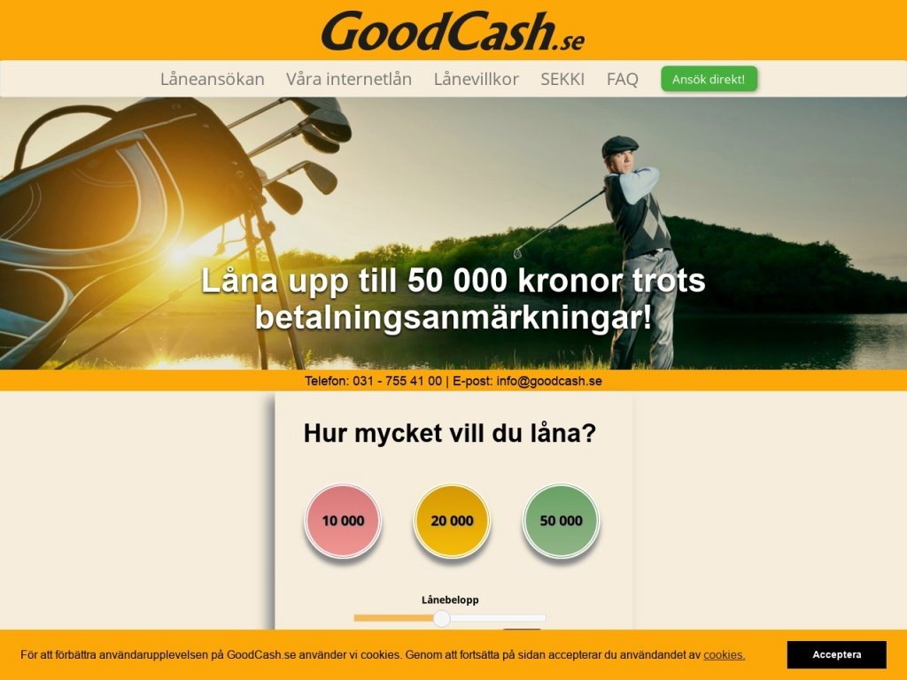 GoodCash skärmdump